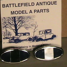 1928-1931 Model A Ford Ratrod Streetrod Bumper Clamps Stainless Steel Set/2 1PR