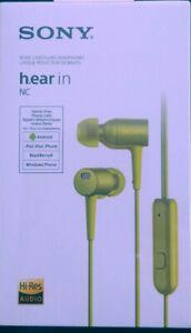 Sony h.ear in NC MDR EX750 NAYM gelb grün Kopfhörer Noise Canceling NEU OVP