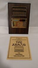 Vintage Abacus & Solar Calculator, Time Products East West Calculator, Works