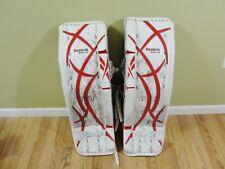 Reebok Lefevre 9000 Sr Senior Hockey Goalie Leg Pads 34+1 Nhl Legal Size White