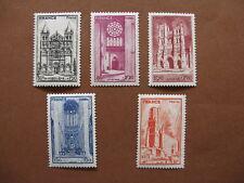 FRANCE neufs n° 663 à 667  1ère série des cathédrales