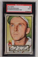 Dick Kryhoski (d.07) Autographed 1952 Topps #149 Signed Card SGC JSA Authentic