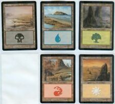 MAGIC DCI LAND MANA SET Mtg  2003  1 of each color  MINT FROM SLEEVE! VHTF!