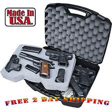 "Pistol Box 4 Handgun 8"" Barrel Large Hard Case Paintball Revolver Gun Storage"