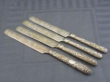 4 alte Messer Silber China ca um 1900