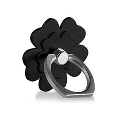 Fashion 360° Rotation Clover Metal Finger Ring Grip Stand Holder Mount All Phone