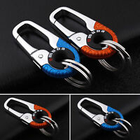 Stainless Steel Buckle Carabiner Keychain Key Ring Clip Hook Outdoor Climbing