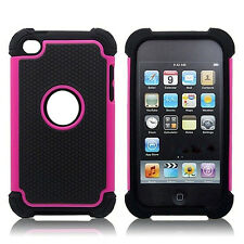 Hybrid Rugged Rubber Matte Hard Case Cover Skin for Apple iPod Touch 4th 5th Gen