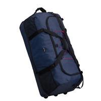 XXL FALTBARE Rollenreisetasche Reisetasche 1400g 140 L Dehnfalte dunkel blau