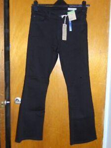 M&S BootCut Jeans 'The Eva' Mid Rise Cotton Rich w/Stretch 12S Black BNWT