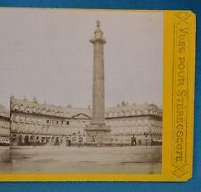 1860/70s France Stereoview Photo Colonne Vendome Paris Vues Pour Stereoscope P.L