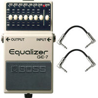 Boss GE-7 Graphic Equalizer Guitar Effects Pedal Stompbox Footswitch + Cables