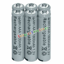 6x AAA battery batteries Bulk Nickel Hydride Rechargeable NI-MH 1800mAh 1.2V Gy