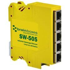Brainboxes SW-505 industriale compatto Ethernet 5 PORTE SWITCH montabile su guida DIN