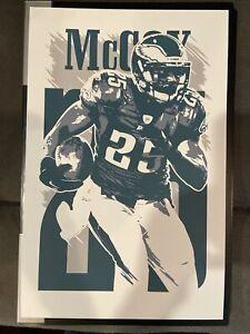 NEW Philadelphia Eagles LeSean McCoy Art Print Poster Non Game Used Jersey Bucs