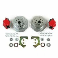 Mustang II 11 inch Big Brake Drop Spindle Conversion 5x4.75Red Calipers