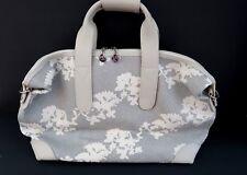Apple & Bee Overnight Bag Day Trip Handbag Purse Tote Metallic Silver Japan NEW