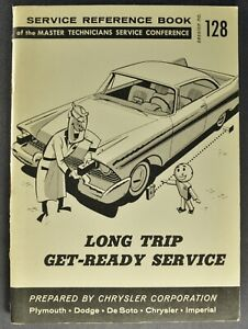 1958 Chrysler Long Trip Service Book Plymouth Dodge DeSoto Imperial Original 58