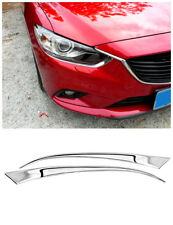 2* Chrome Front Head Light Eyebrow Cover Trim For Mazda 6 M6 / Atenza 2013-2016