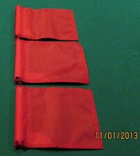 "PUTTING GREEN FLAGS -  SET OF 3 RED - SIZE 6""X8"""