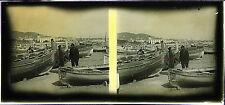 CANNES Côte d'Azur STEREO Plaque de verre positive 6x13cm, vers 1910