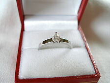 .18 Ct. Diamond Solitaire  14K White Gold Ring