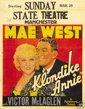 Klondike Annie Mae West vintage movie poster