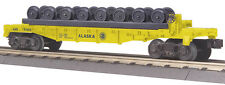 MTH Train O Scale Alaska Flat Car with Wheel Set 30-76460 NIB