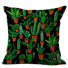 """18"""" Cactus Fruit Printed Cover Cotton Throw Patio Cushion Pillow Case Square Hot"""