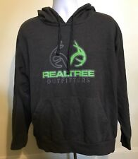 Realtree Outfitters Hoodie Dark Gray Lime Green Men Size Large Camo Hood Jacket