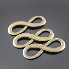 09161 Retro Bronze Alloy Infinity Sign Pendant Connector Jewelry Decor 50pcs