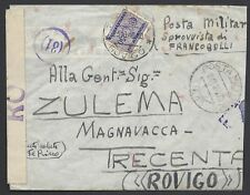 POSTA MILITARE 1940 Lettera PA da PM 13 a Trecenta Tassata (EC)
