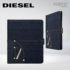 DIESEL FOLIO CASE COVER BOOKLET DENIM BLUE APPLE IPAD 2 3 4 AIR BUTTON LOCK