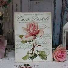 "~ ""Carte Postale"" Shabby Chic French Country ~ Cottage style ~ Wall Decor Sign ~"