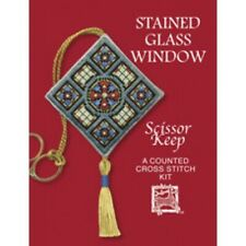 Textile Heritage Counted Cross Stitch Kit - Scissor Keep - Stained Glass Window