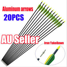 "20pcs 32"" EXTRA HEAVY DUTY ALUMINIUM ARROWS FOR COMPOUND AND RECURVE BOW ARCHERY"