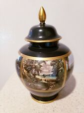 Gerold Porzellan Green Ginger Jar Urn Tettau Bavaria Germany Old Master Painting