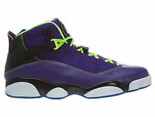 Jordan 6 Rings Bel-Air Mens 322992-515 Court Purple Flash Lime Shoes Size 11.5