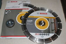 2 x Bosch 230mm x 22,33mm Diamond Blades 2608602195 + 1 x Quick Change Nut