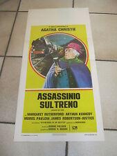LOCANDINA,  ASSASSINIO SUL TRENO - M.RUTHERFORD A, CHRISTIE