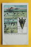Gloria Viktoria Marine AK Auffischen v Minen Minensuchen Schiff Techn 1914-18 WK