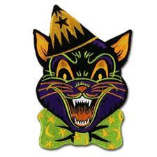 Crazy Cat Iron On Patch Retro Vintage Halloween