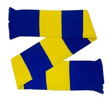 Blue and Yellow Retro Bar Scarf - Made in the UK