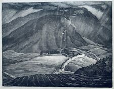 Leslie Moffat Ward R.E. 1888 -1978 lithograph Landscape 1943