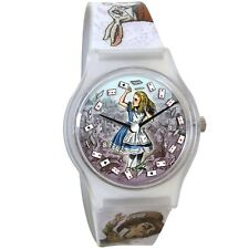 Official Vintage Alice in Wonderland Character Printed Wristwatch - Boxed UPG