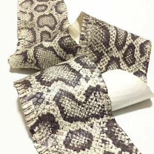 real Cobra SNAKESKIN SNAKE SKIN HIDE tanned leather Burmese Python Print Wax