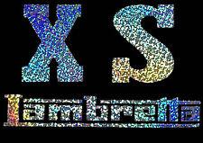 lambretta style SX stickers  multi colour Holographic scooter decals