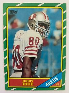 1986 Topps JERRY RICE RC #161,  49ers HOF   EX Condition