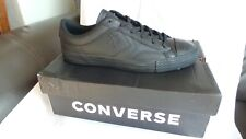 BRAND NEW in box Converse Black Leather Star Player Ox trainers Size 12 EU 46.5