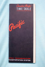 Canadian Pacific - Time Table - Oct. 25, 1964 to Apr. 24, 1965